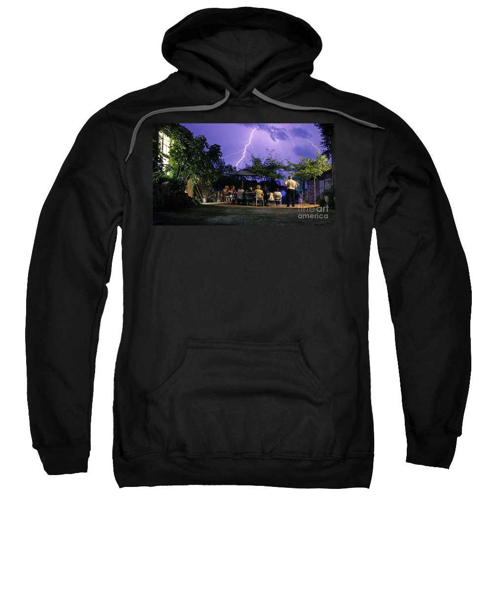 Lightning Sweatshirt featuring the photograph Grand Theatre Of Nature by Casper Cammeraat