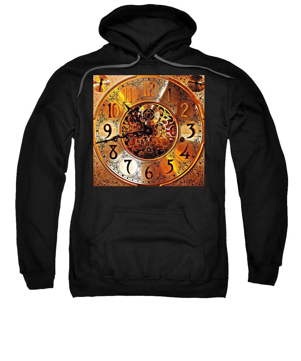Hdr Sweatshirt featuring the photograph Grandfather Time Hdr by Frozen in Time Fine Art Photography