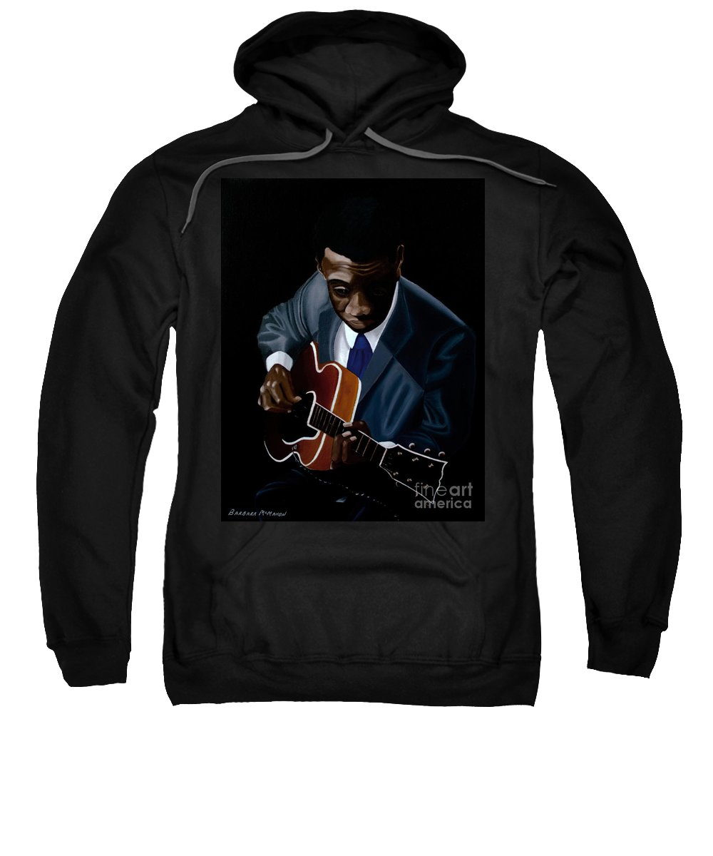 Jazz Sweatshirt featuring the painting Grant Green by Barbara McMahon