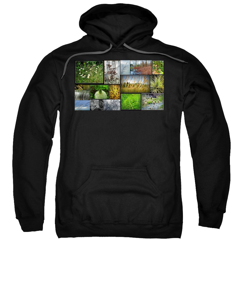Grass Collage Variety Sweatshirt featuring the photograph Grass Collage Variety by Tikvah's Hope