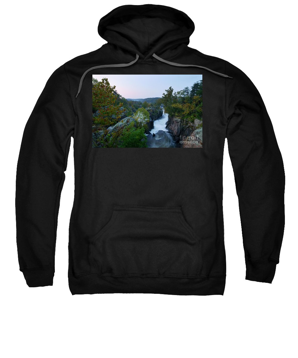 Great Falls Sweatshirt featuring the photograph Great Falls Md Hdr 2 by Benjamin Reed