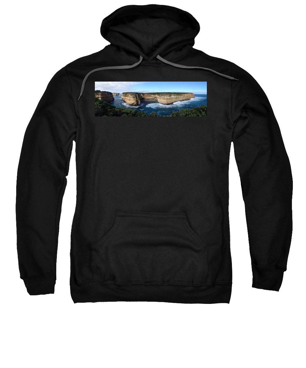 Great Ocean Road Sweatshirt featuring the photograph Great Ocean Road, Australia - Panoramic by Ian Mcadie