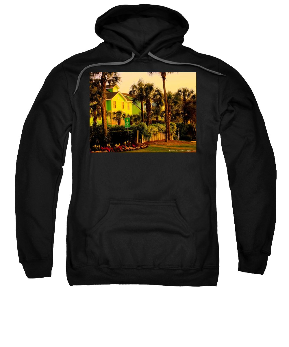 Kendall Kessler Sweatshirt featuring the photograph Green Beauty At Isle Of Palms by Kendall Kessler