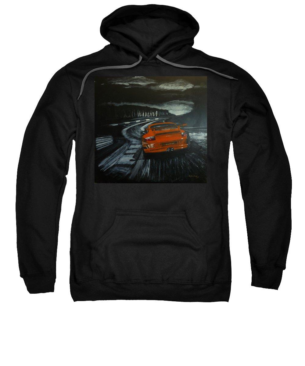Porsche Sweatshirt featuring the painting Gt3 @ Le Mans #2 by Richard Le Page