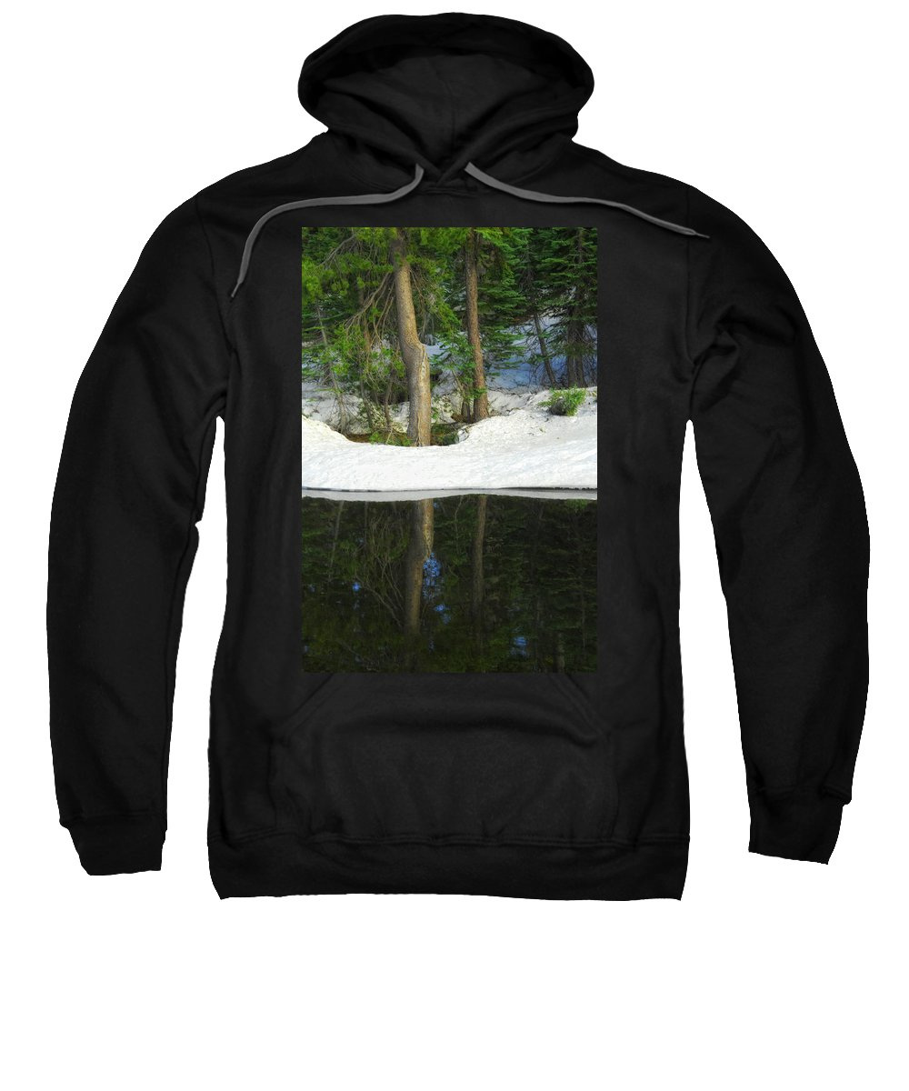 Landscape Sweatshirt featuring the photograph Half And Half by Donna Blackhall