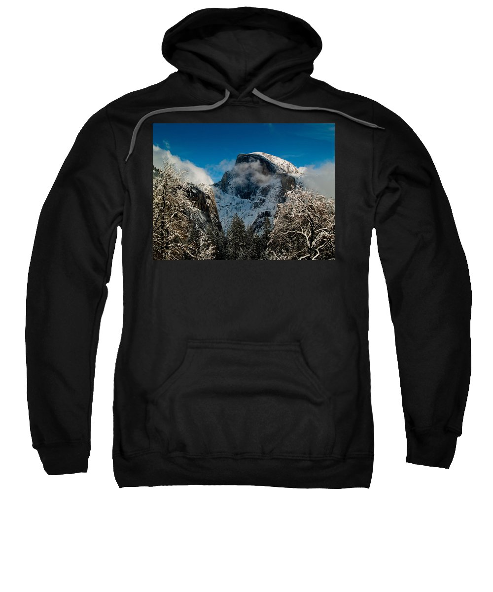 Yosemite Sweatshirt featuring the photograph Half Dome Winter by Bill Gallagher