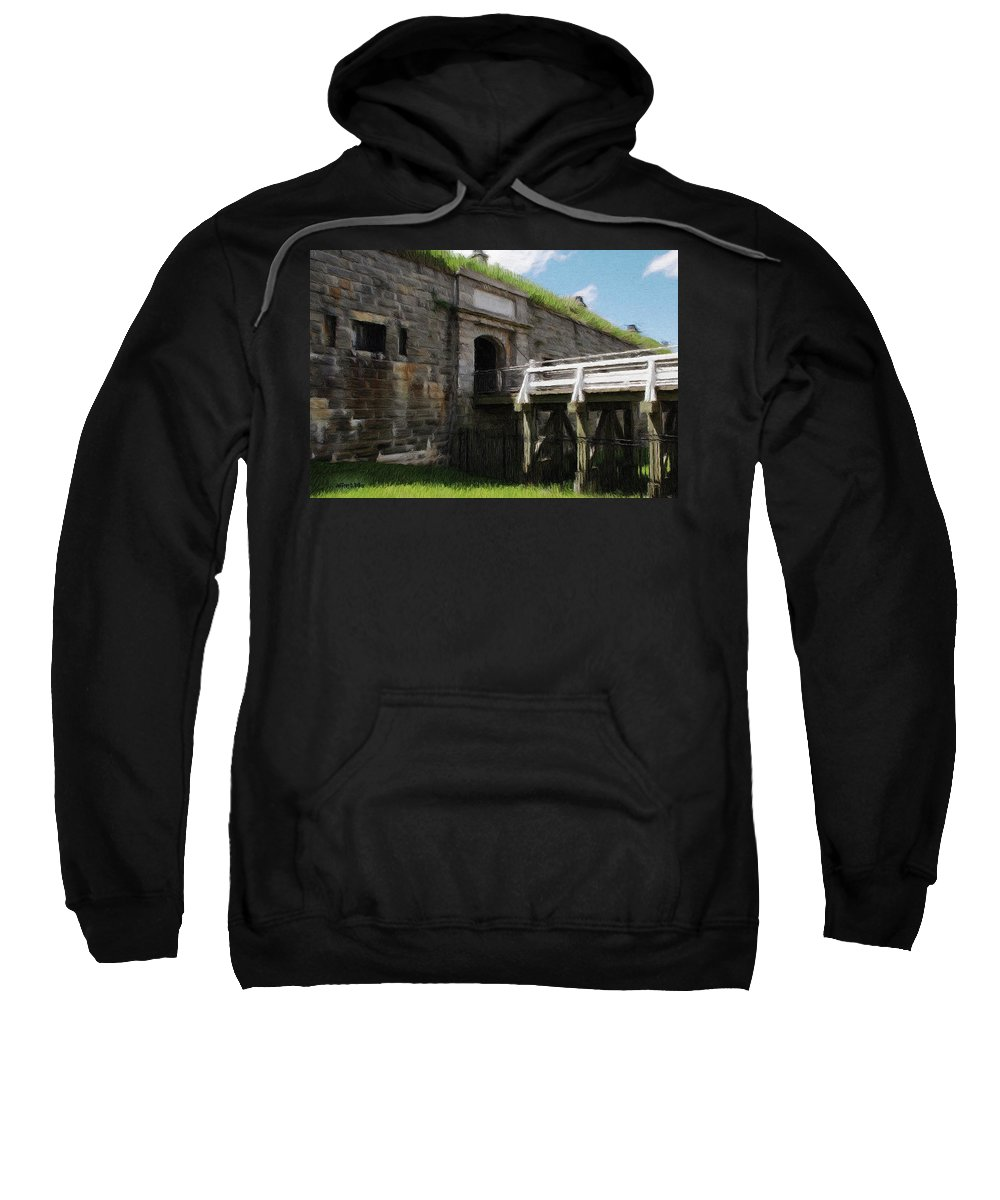 Canadian Sweatshirt featuring the painting Halifax Citadel by Jeffrey Kolker