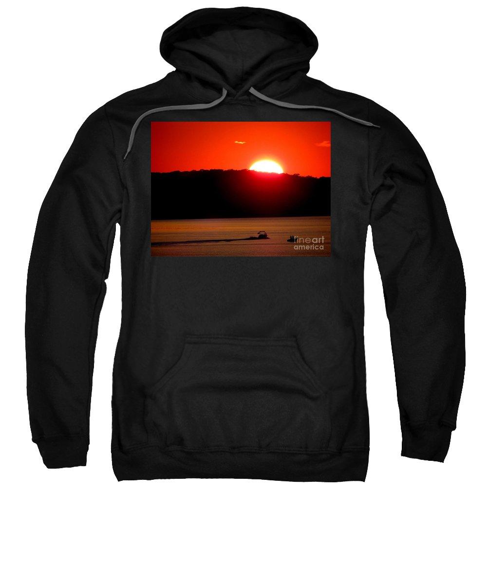 Sunset Sweatshirt featuring the photograph Hamptons Sunset by Ed Weidman