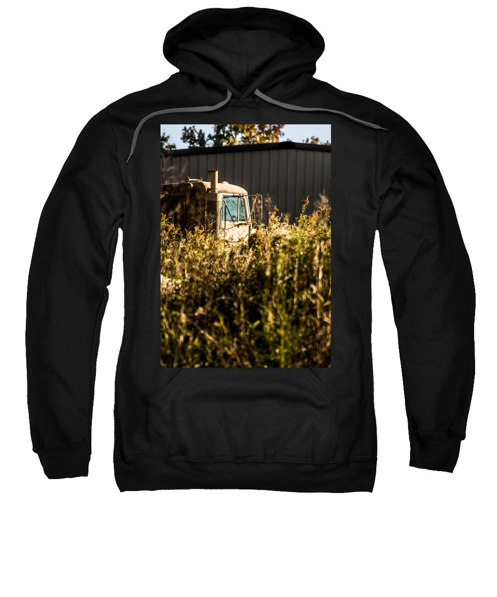 Hard Work On The Farm Sweatshirt featuring the photograph Hard Work On The Farm by Parker Cunningham