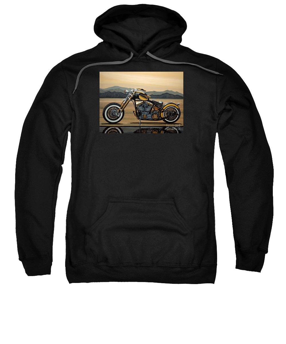 Harley Davidson Sweatshirt featuring the painting Harley Davidson by Paul Meijering