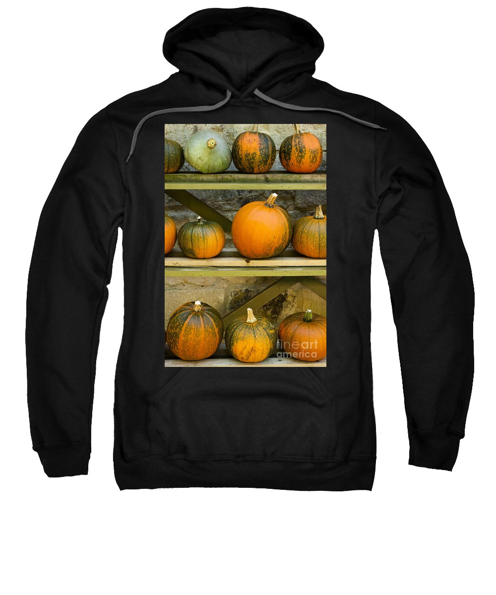 Autumn Sweatshirt featuring the photograph Harvest Display by Anne Gilbert