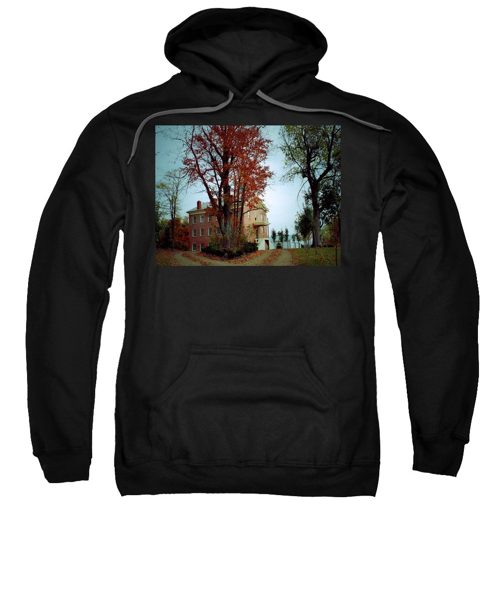 Haysville Ohio Sweatshirt featuring the photograph Hayesville Academy Vermillion Institute by R A W M