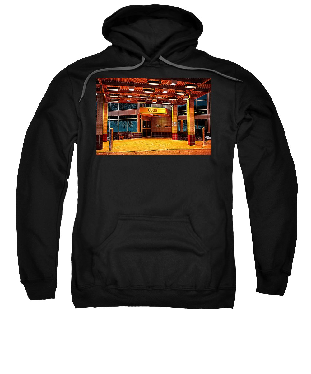 Hdr Sweatshirt featuring the photograph Hdr Medical Building by Frozen in Time Fine Art Photography