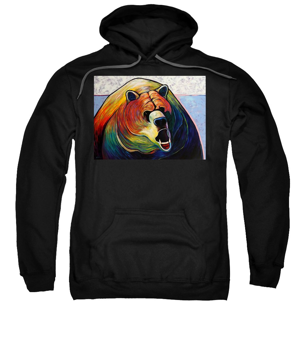 Wildlife Sweatshirt featuring the painting He Who Greets With Fire by Joe Triano