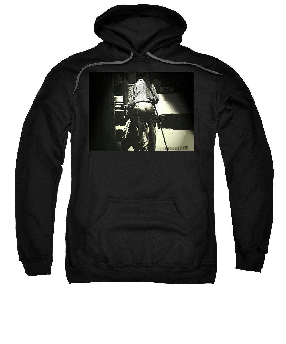 Abstract Sweatshirt featuring the photograph Headin' On Home by Lenore Senior