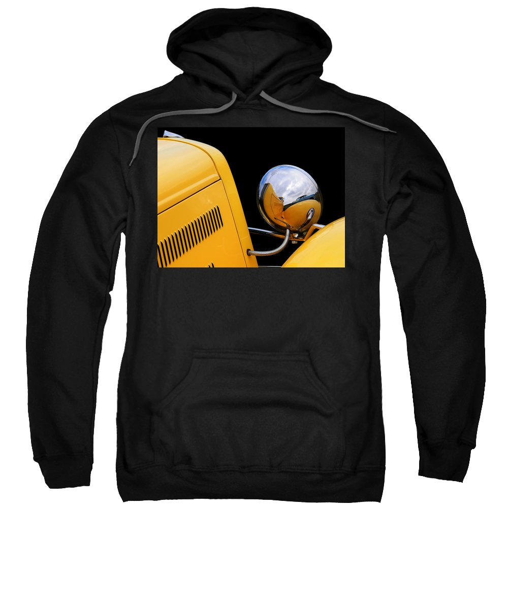Hotrod Sweatshirt featuring the photograph Headlight Reflections In A 32 Ford Deuce Coupe by Gill Billington