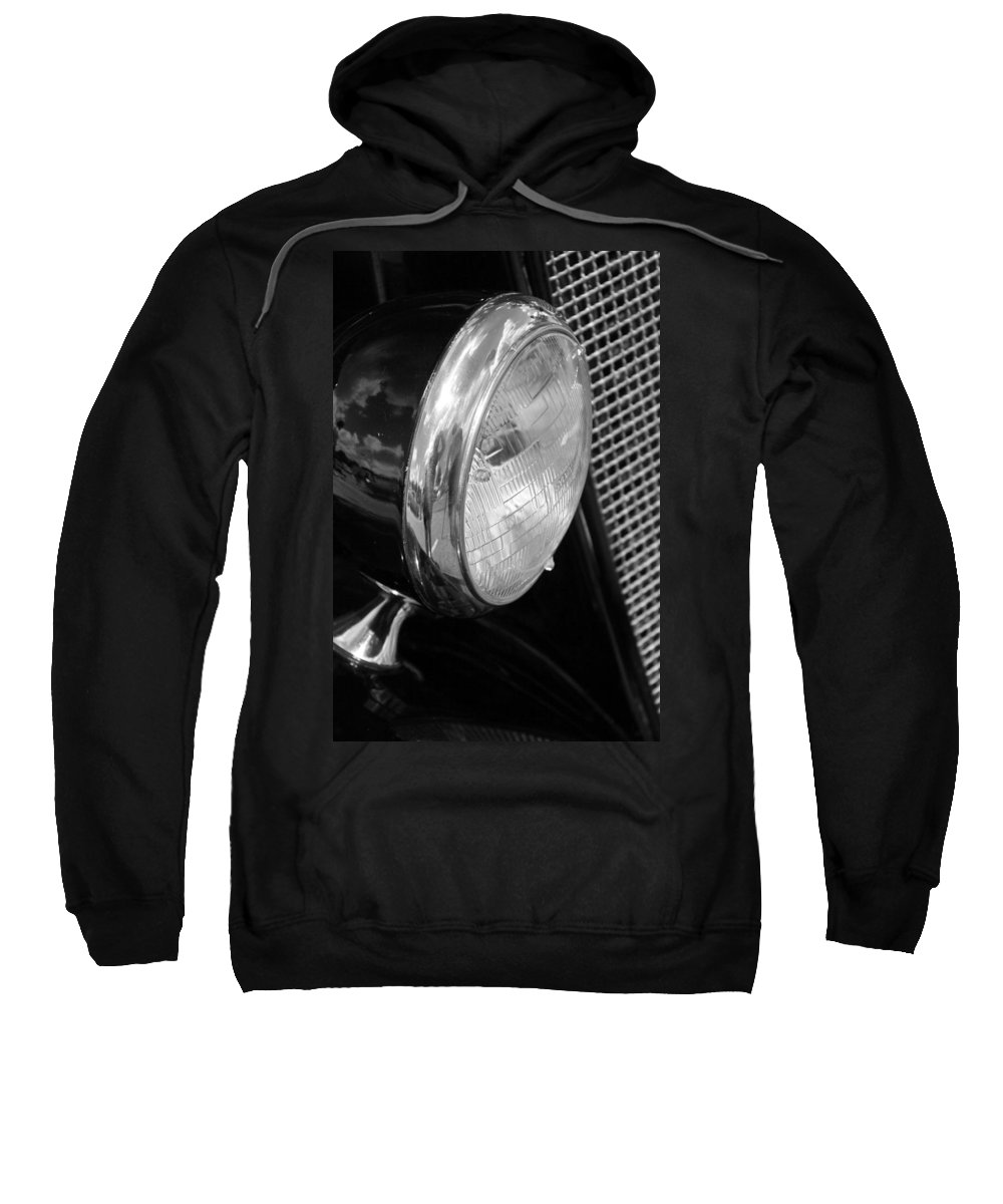 Ford Sweatshirt featuring the photograph headlight205 BW by Carolyn Stagger Cokley