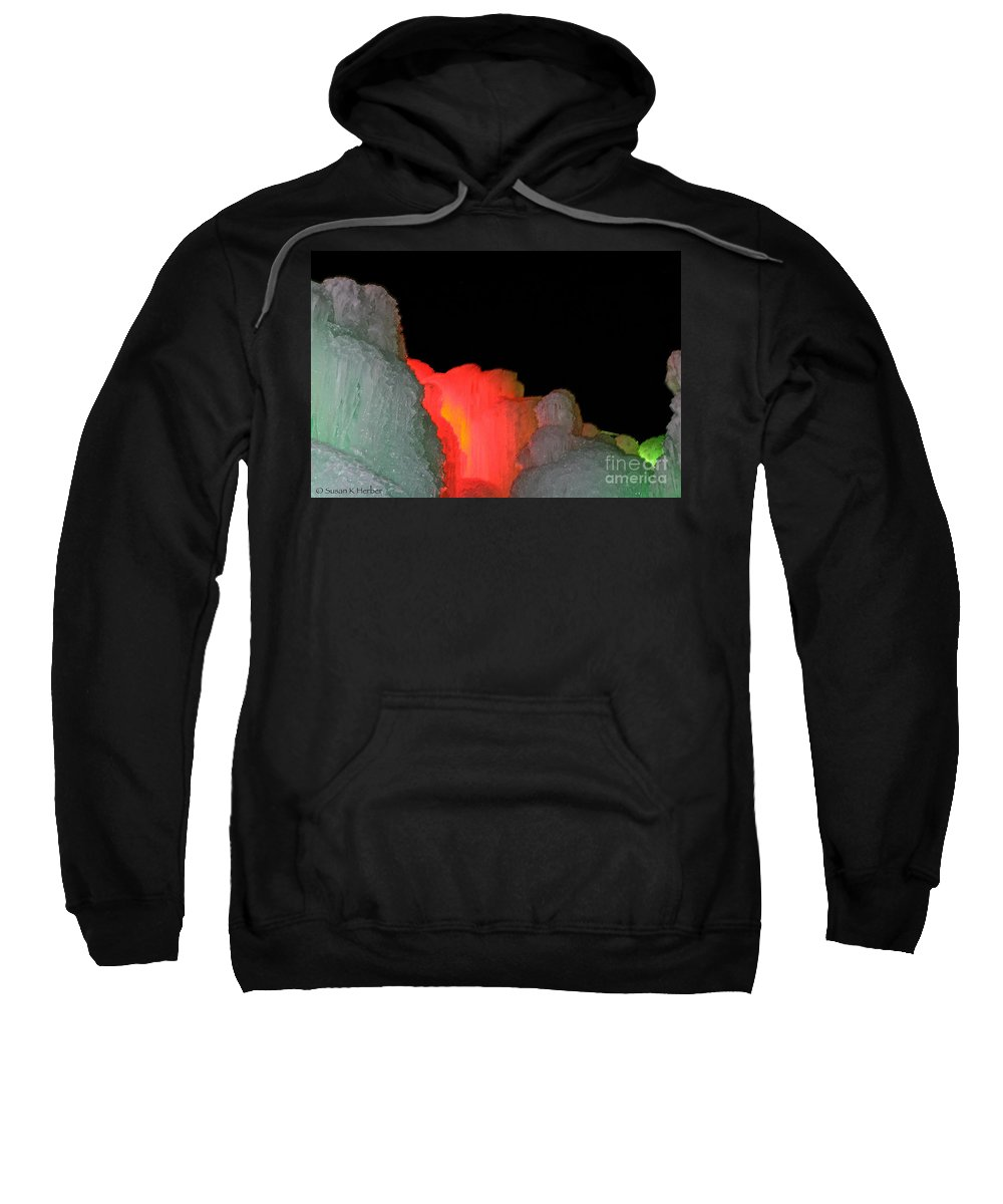 Ice Sweatshirt featuring the photograph Heart Of The Castle by Susan Herber