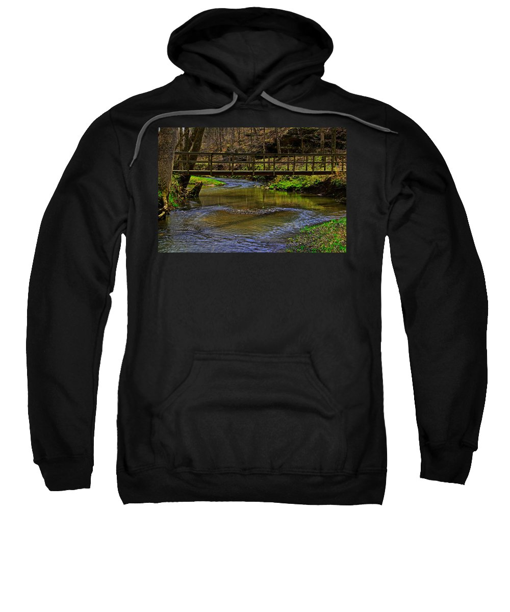 Bridge Sweatshirt featuring the photograph Heart Of The Woods by John Mullins