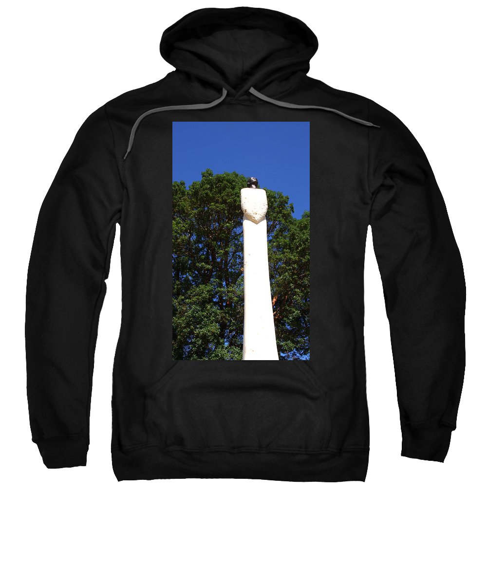 Statue Art Sweatshirt featuring the photograph Heavenward Gaze - Sculpture - Lady by Marie Jamieson
