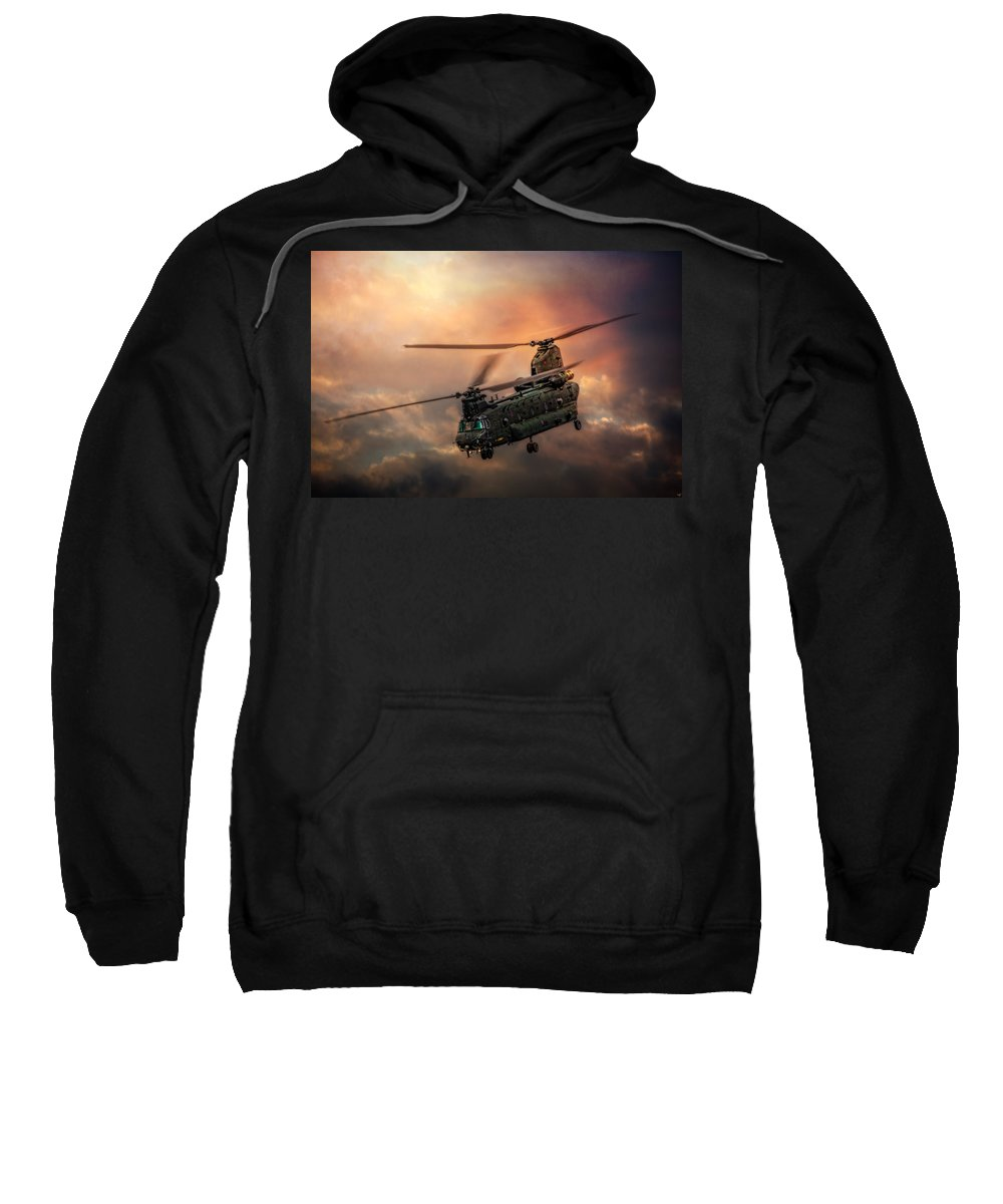 Chinook Sweatshirt featuring the photograph Heavy Metal by Chris Lord