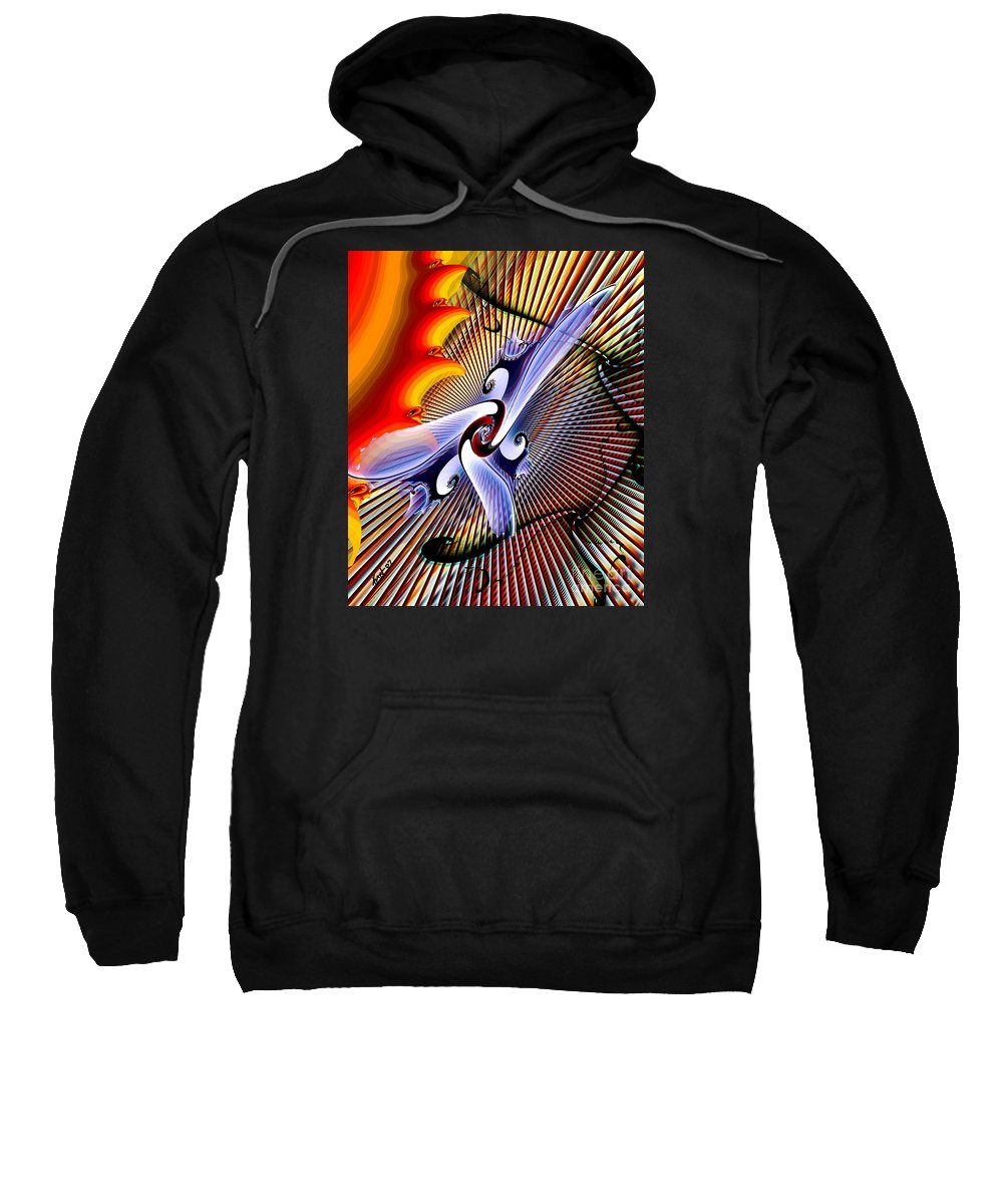 Helios Sweatshirt featuring the digital art Helios by Kimberly Hansen