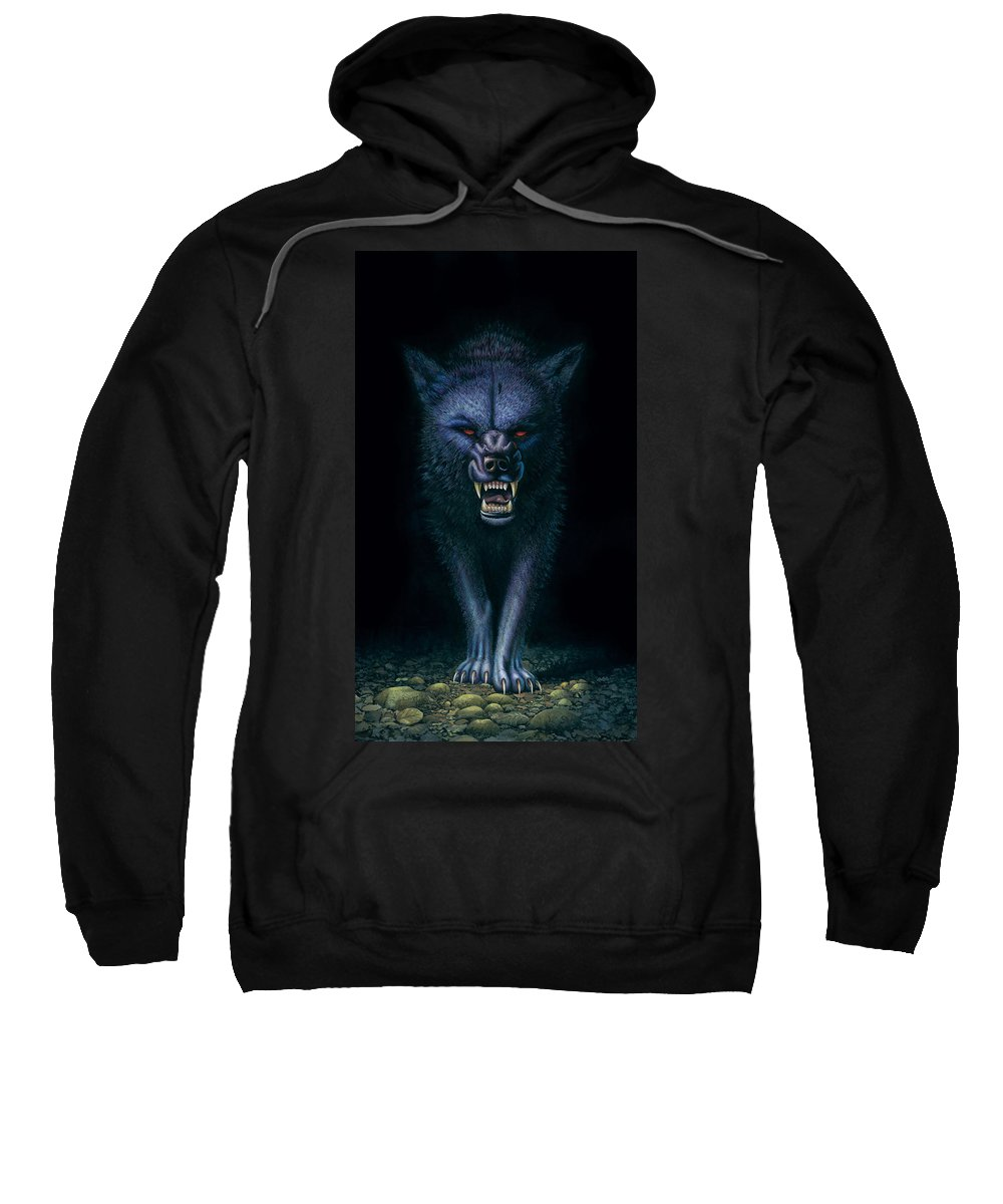 Aggressive Sweatshirt featuring the photograph Hell Hound by MGL Studio - Chris Hiett