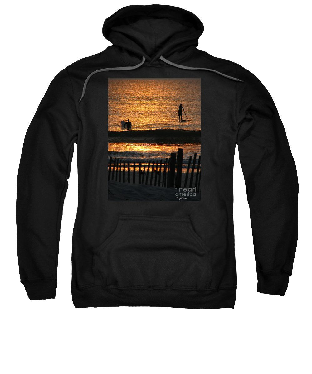 Art For The Wall...patzer Photography Sweatshirt featuring the photograph Here Comes The Sun by Greg Patzer