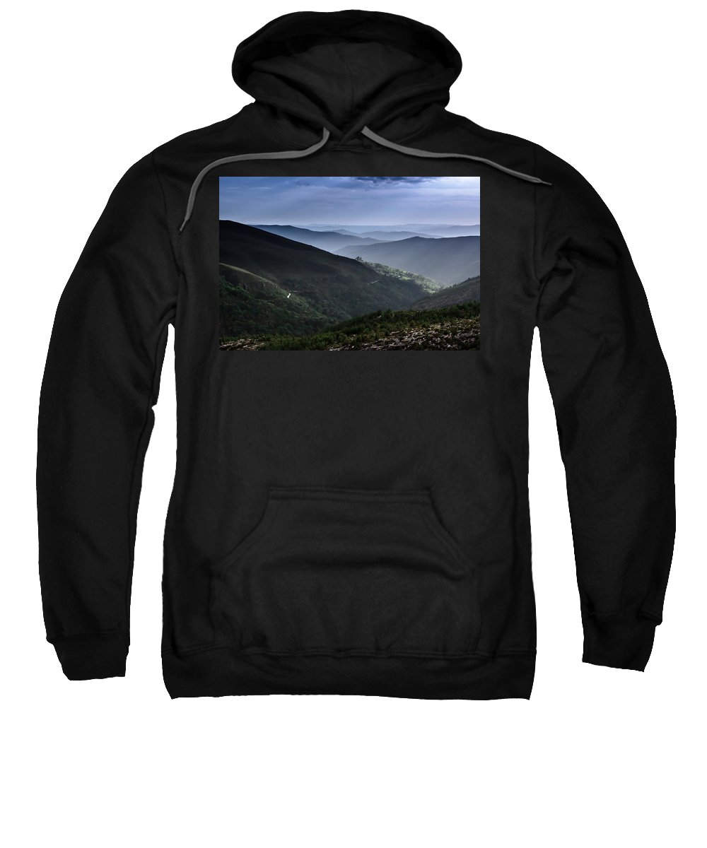 Mountain Sweatshirt featuring the photograph Hills And Valleys by Edgar Laureano