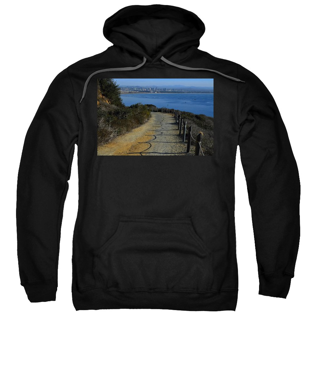 Hillside Trail Sweatshirt featuring the photograph Hillside Trail by See My Photos