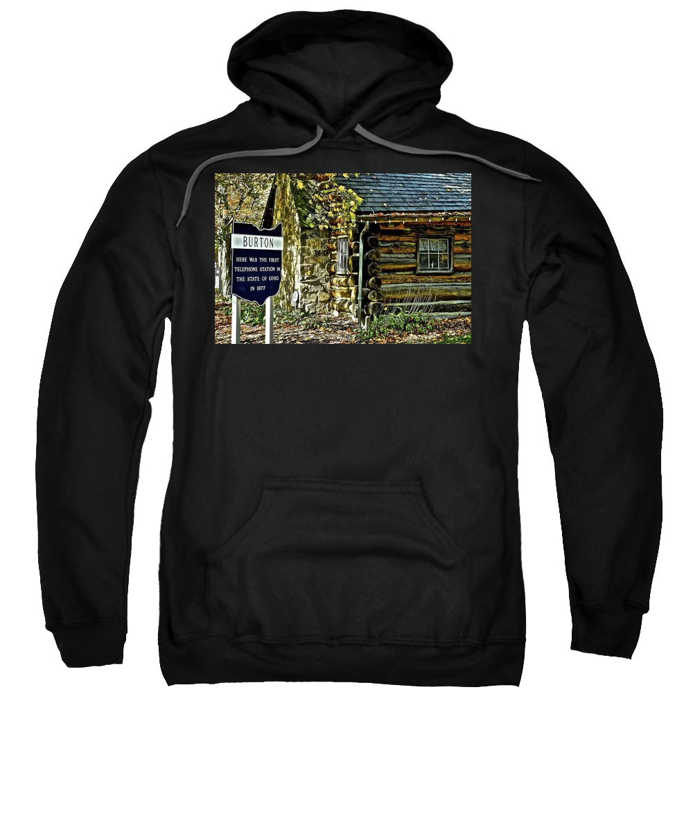 Historical Sweatshirt featuring the photograph Historical Landmark by Frozen in Time Fine Art Photography