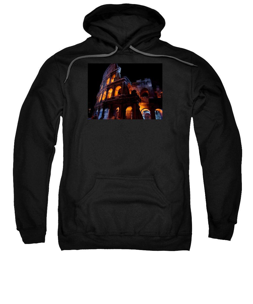 Colosseum Sweatshirt featuring the photograph Historical Shapes In The Night by Alessandro Della Pietra