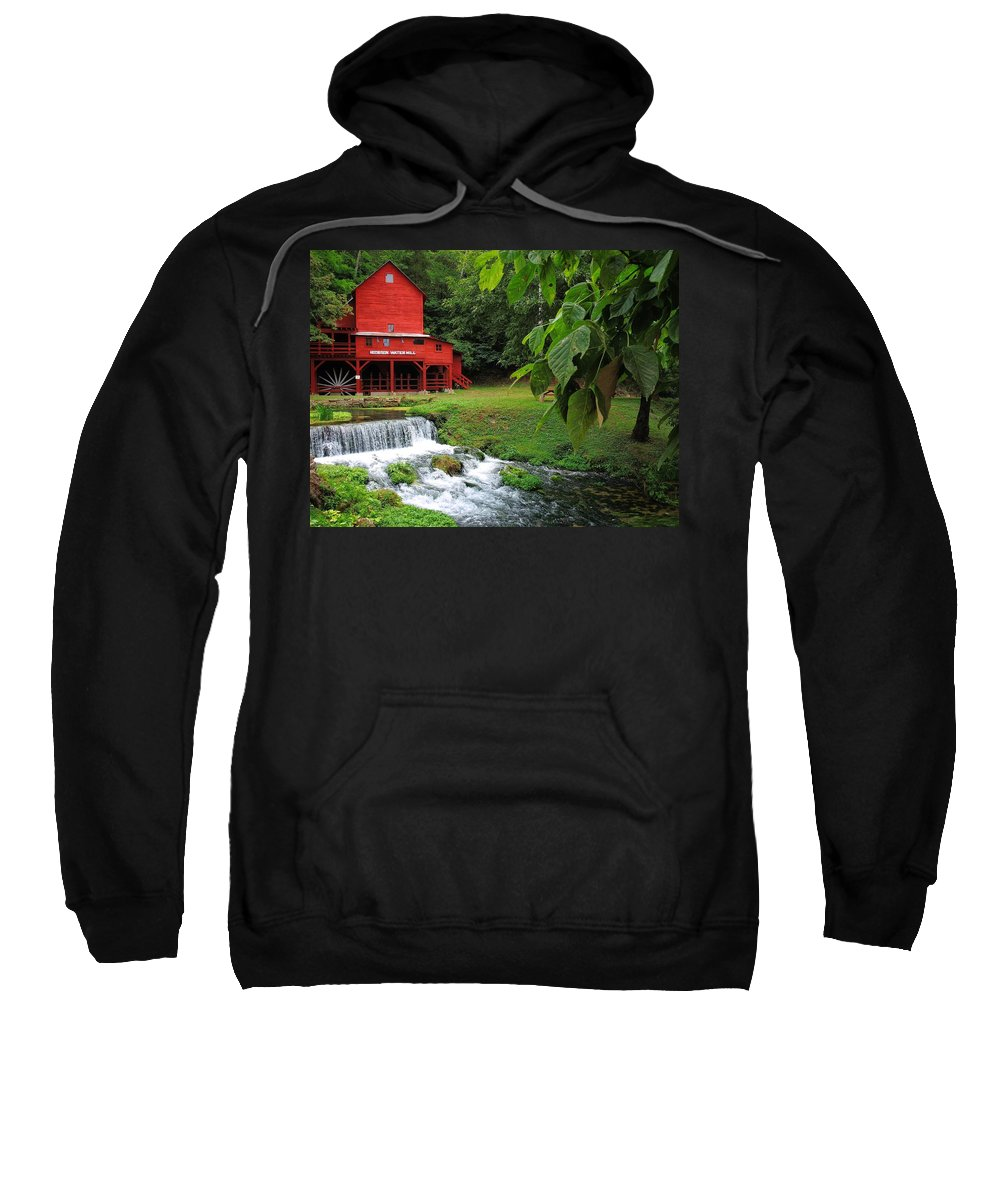 Hodgson Water Mill Sweatshirt featuring the photograph Hodgson Water Mill by Skip Hunt