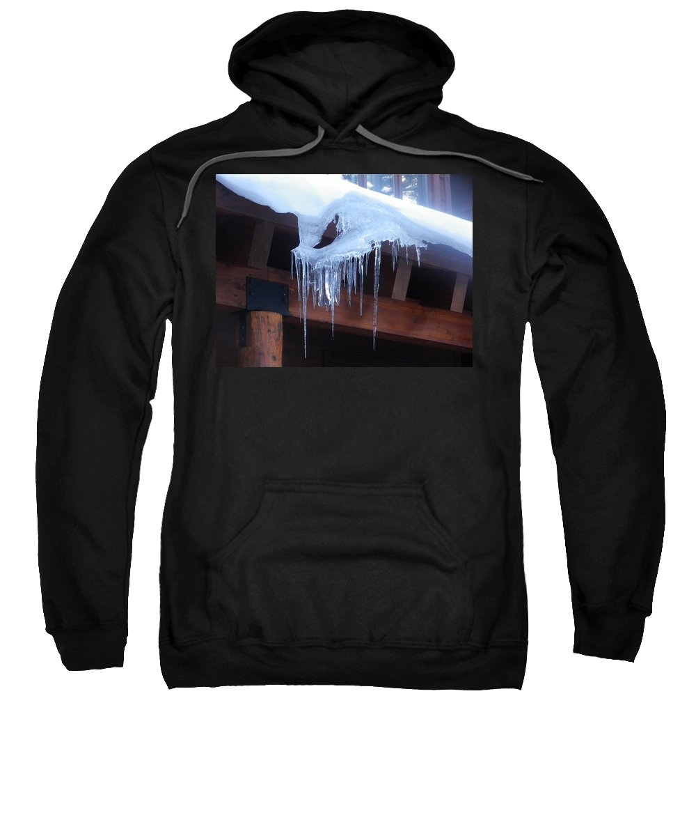 Icicle Sweatshirt featuring the photograph Hold On Tightly by Jonathan Barnes