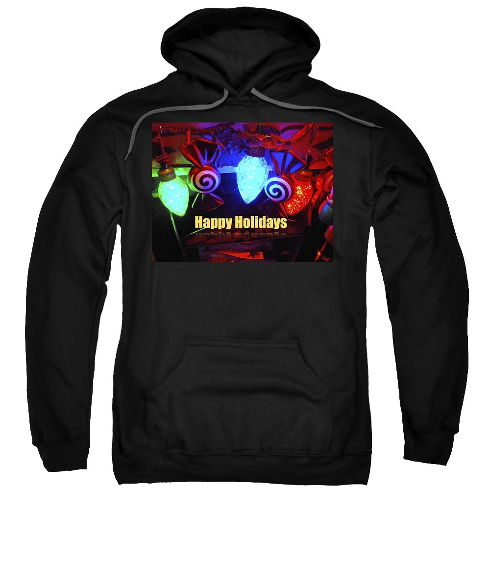 Holiday Greeting Card Sweatshirt featuring the photograph Holiday Lights by Joan Reese
