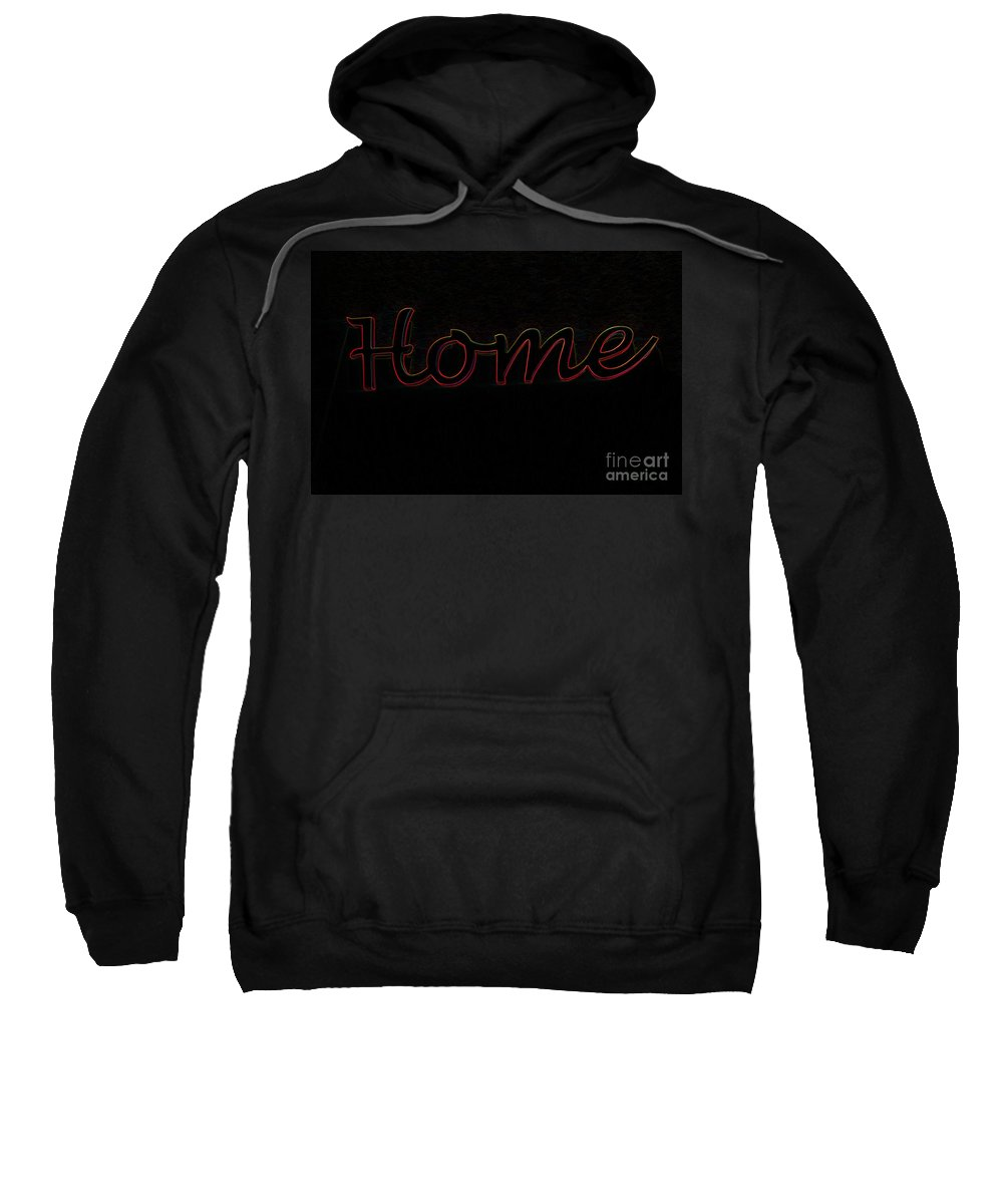 Plaque Sweatshirt featuring the photograph Home Is Where The Heart Is by Gillian Singleton