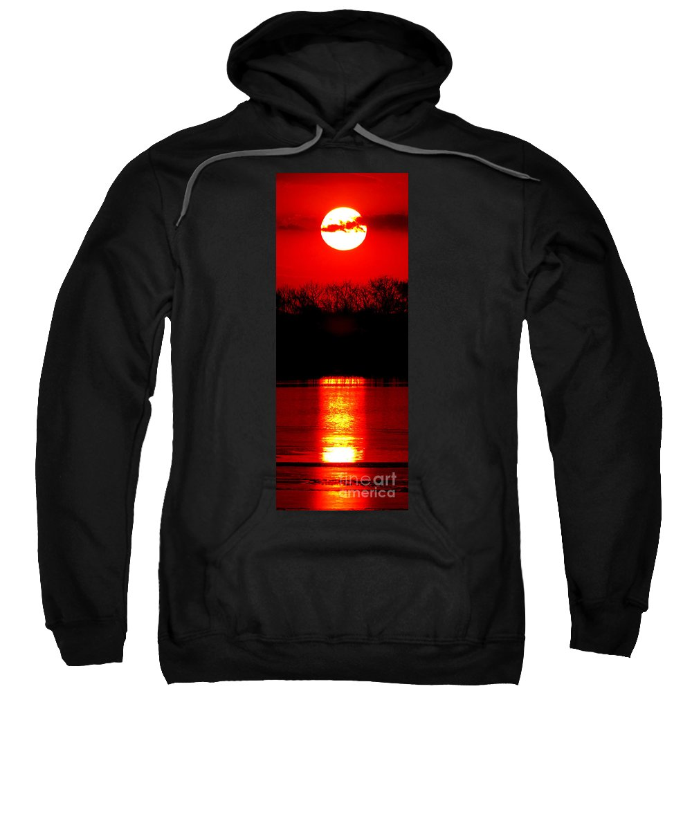 Sunset Sweatshirt featuring the photograph Home by Olivier Le Queinec