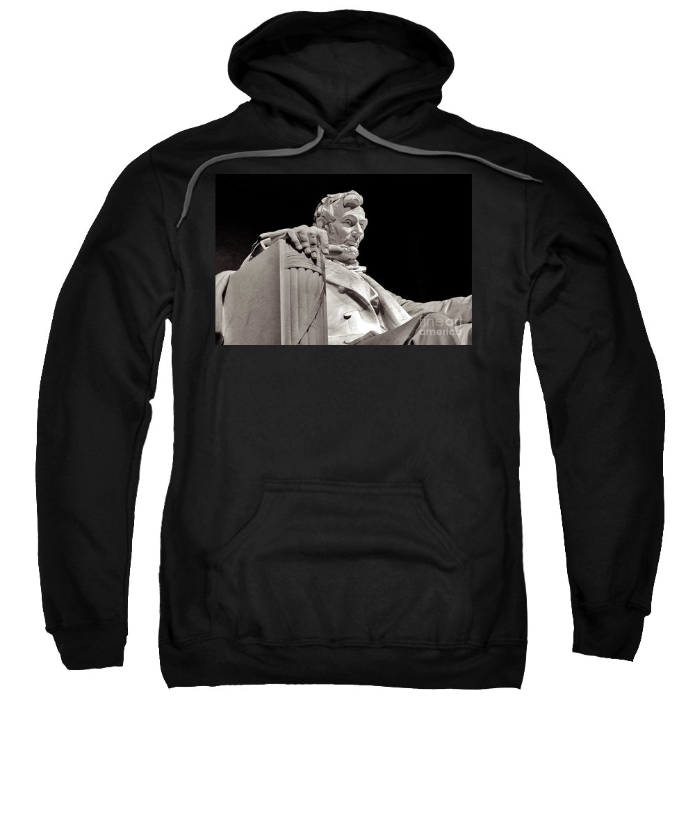 2011 Sweatshirt featuring the photograph Honest Abe by Nicholas Pappagallo Jr