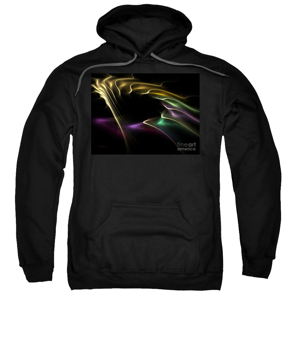 Digital Sweatshirt featuring the digital art Horse Of A Different Color by Greg Moores