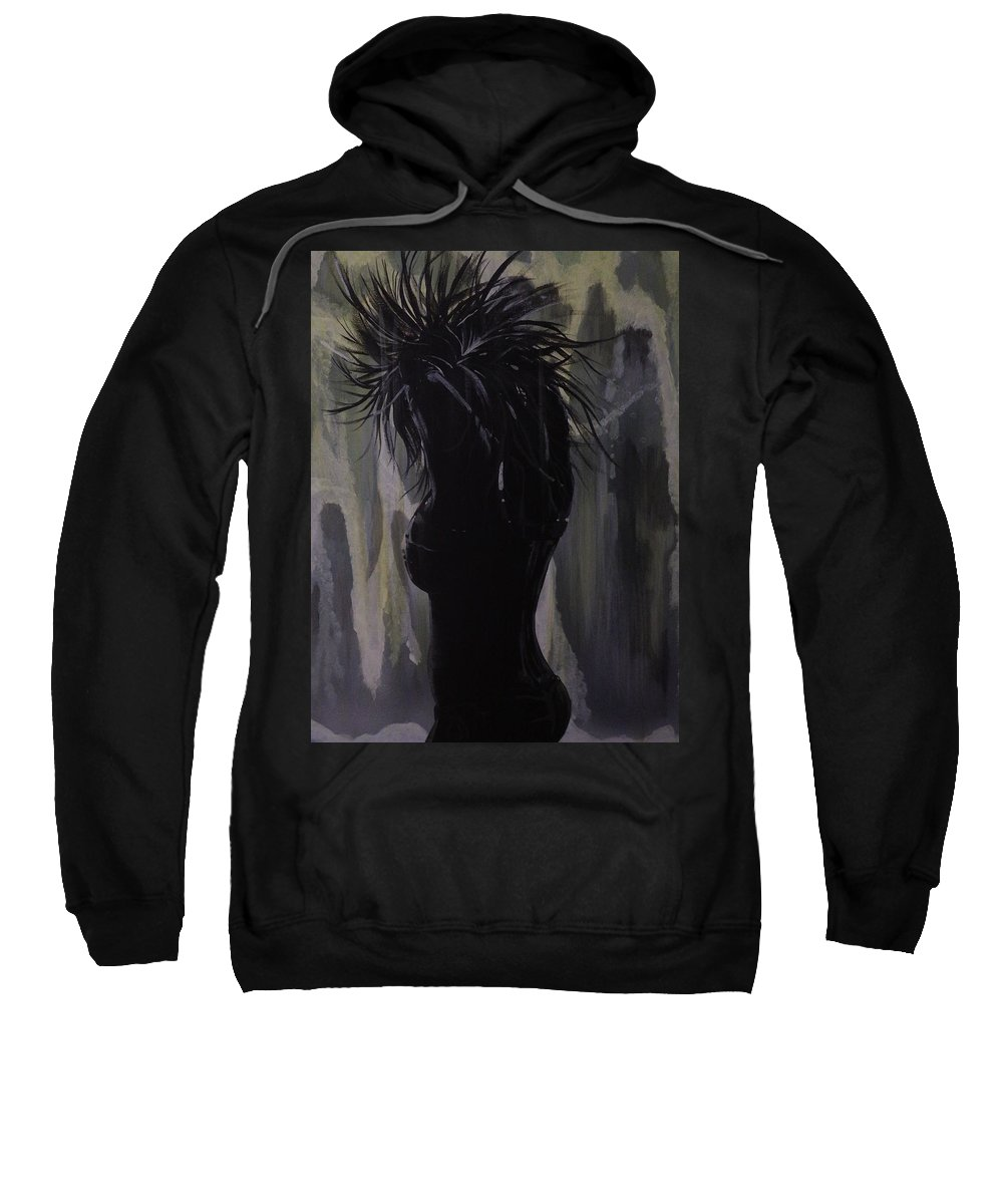 Acrylic Painting Sweatshirt featuring the painting Hot And Cold by Gerard Provost