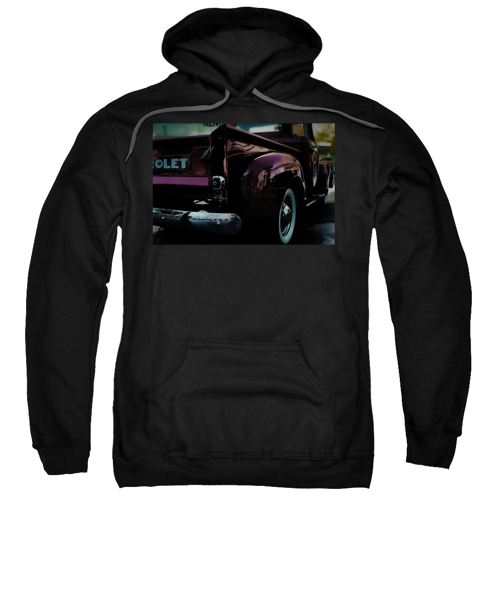 American Classic Cars Sweatshirt featuring the photograph Hot August Nights by Digital Kulprits