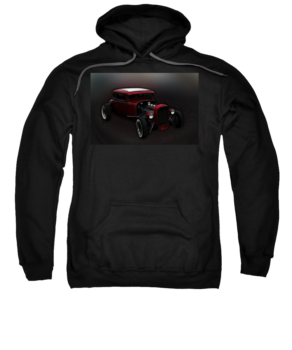 Ford Sweatshirt featuring the photograph Hot Rod Ford Art by Steve McKinzie