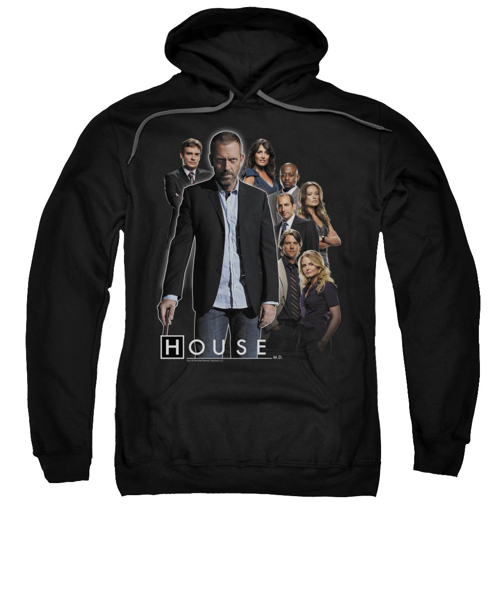 House Sweatshirt featuring the digital art House - Crew by Brand A