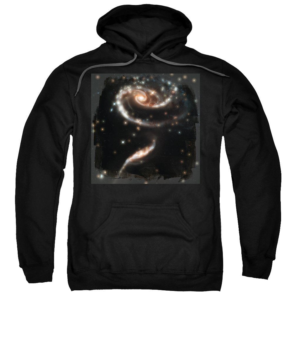 Wright Sweatshirt featuring the photograph Hubble - Rose Made Of Galaxies by Paulette B Wright