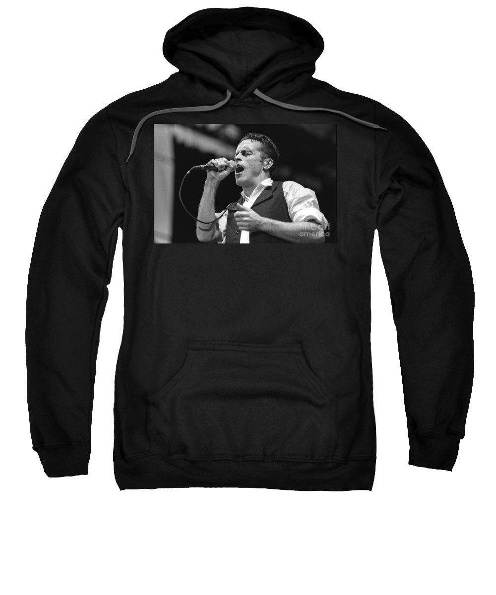Singer Sweatshirt featuring the photograph Hunters And Collectors by Concert Photos