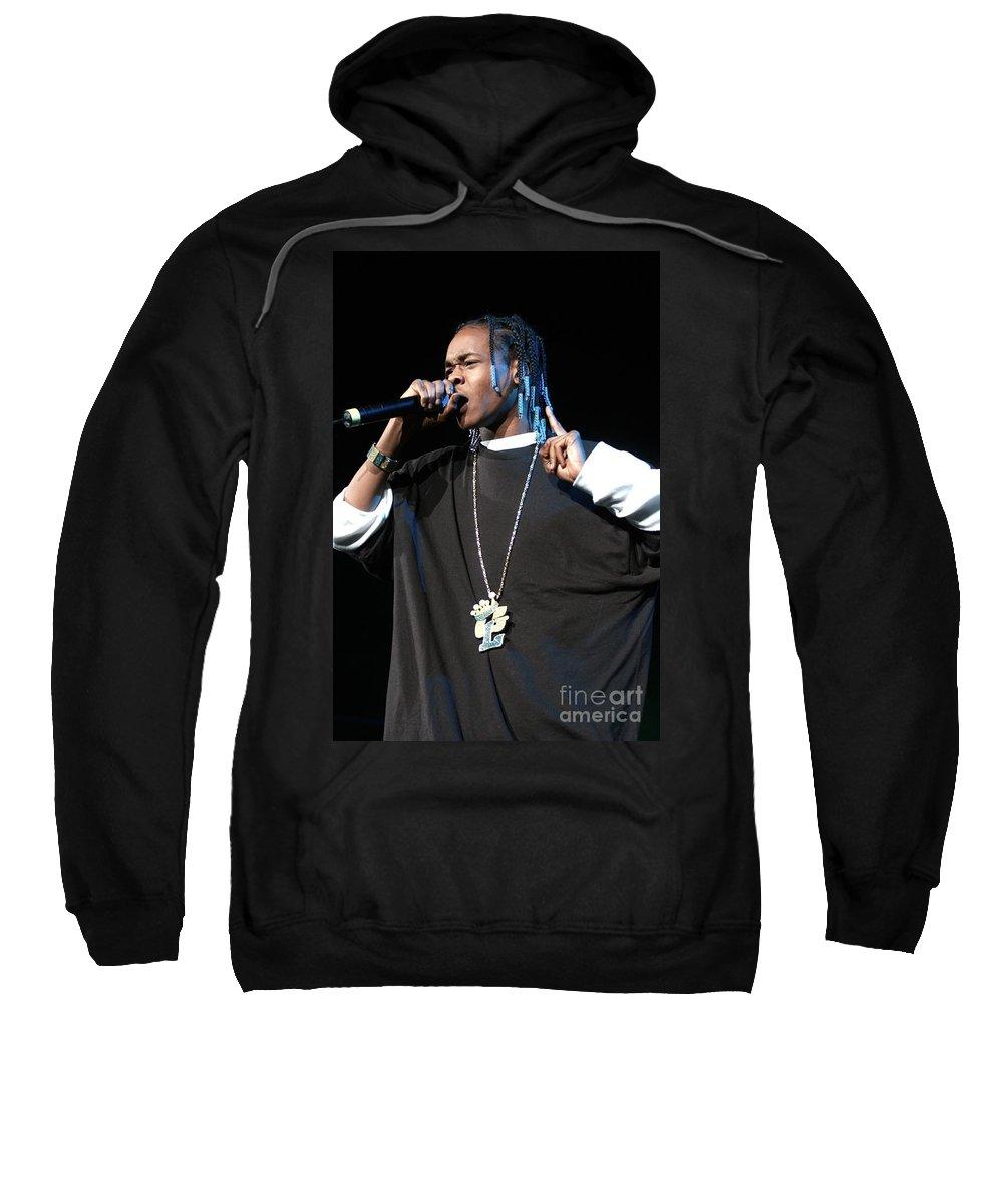 Hair Sweatshirt featuring the photograph Hurricane Chris by Concert Photos