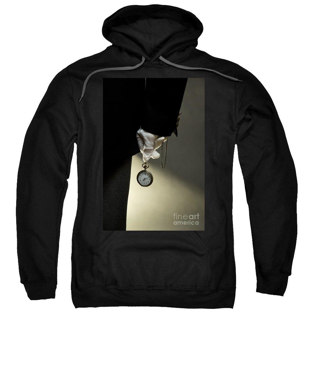 Man Sweatshirt featuring the photograph Hurry Up by Jaroslaw Blaminsky