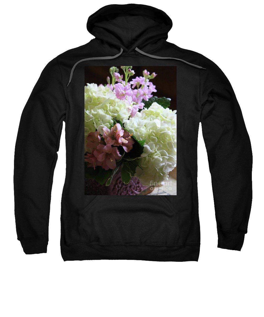 Hydrangea Sweatshirt featuring the photograph Hydrangeas Bouquet by Carol Groenen