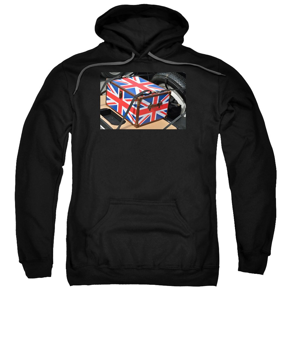 Britain Sweatshirt featuring the photograph I Come With Some Baggage by John Schneider