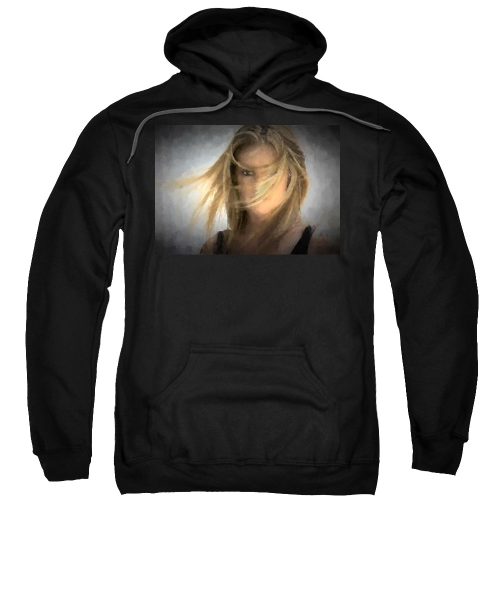 Model Sweatshirt featuring the photograph I Have My Eye On You by Peter Hogg